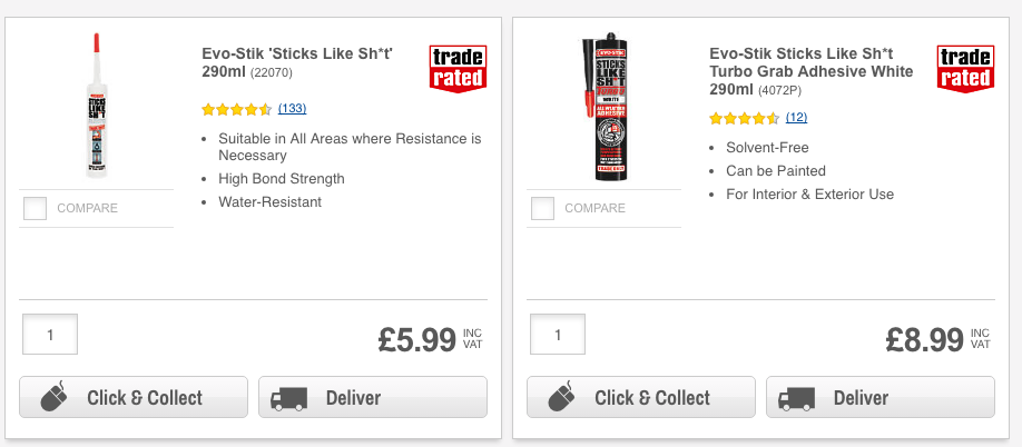 Product reviews on screwfix