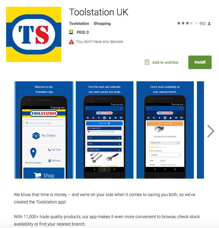 toolstation app