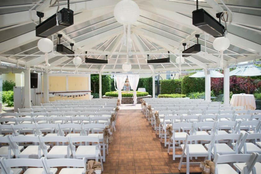 wedding venue set up by wedding planner