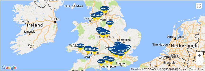 selco branches across england