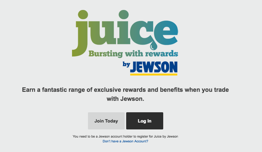 Jewson Juice rewards. Get rewarded the more you trade.