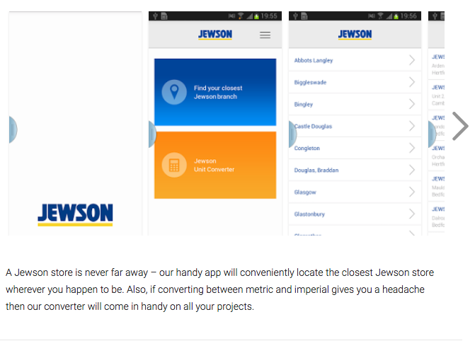 Jewson app for android