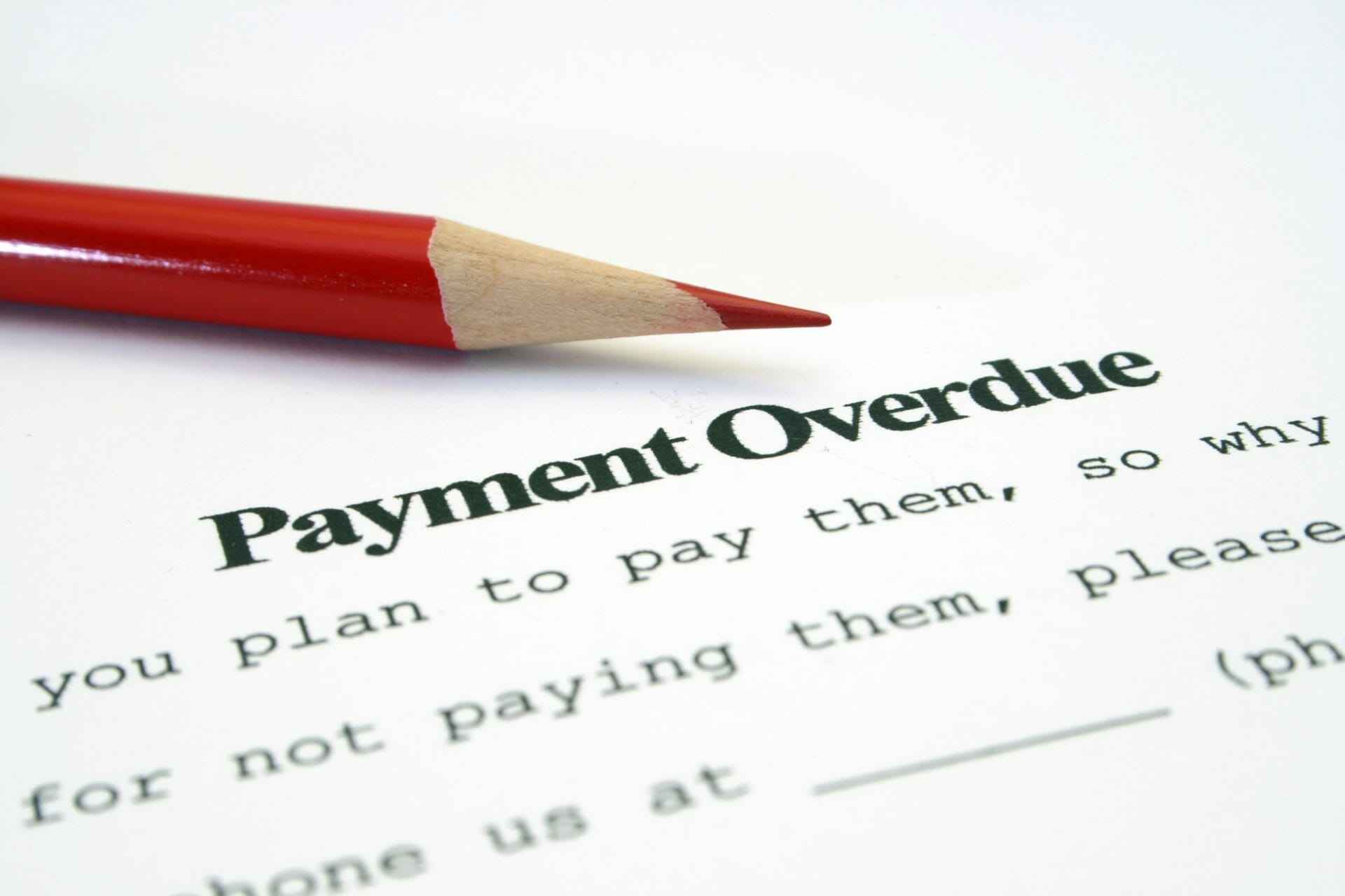 chasing late payments tradesmen
