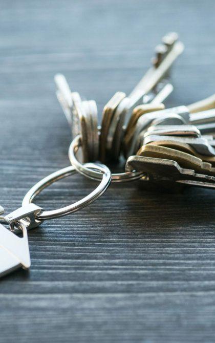 caretaker's bunch of keys on a table