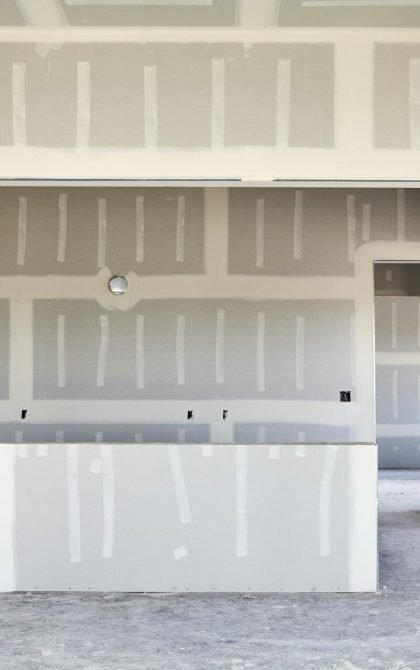dry wall partitioning in a home
