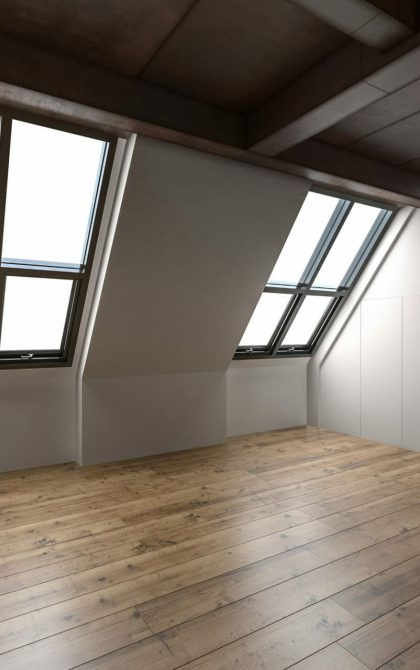 inside of a newly converted loft