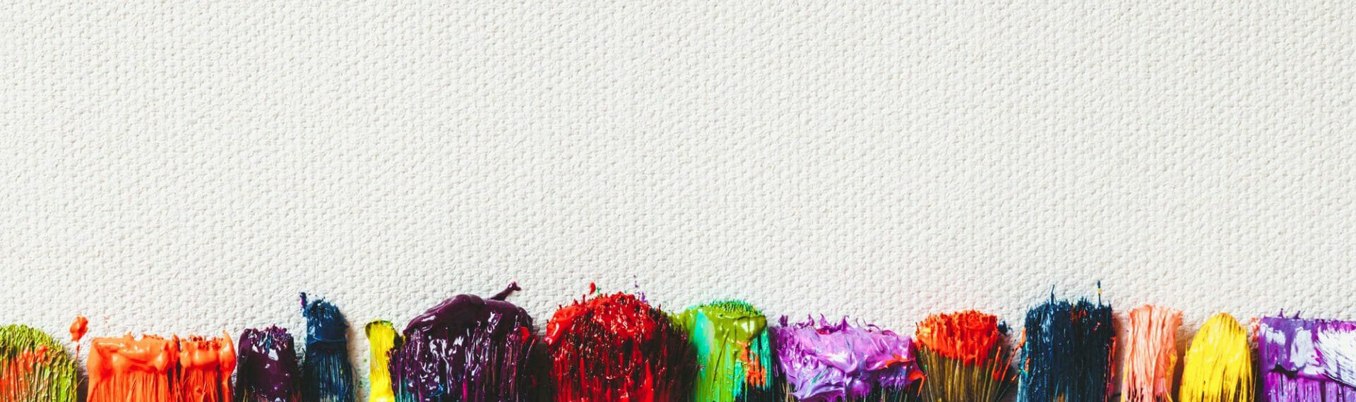 multi coloured paint brushes