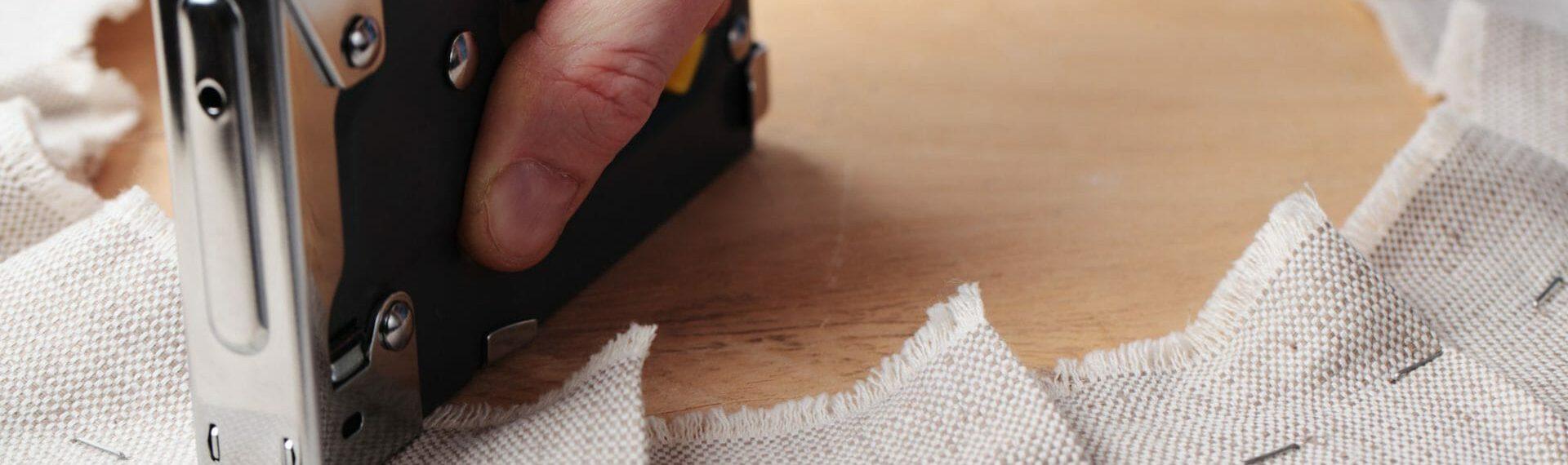 upholstery using staple gun to upholster chair seat