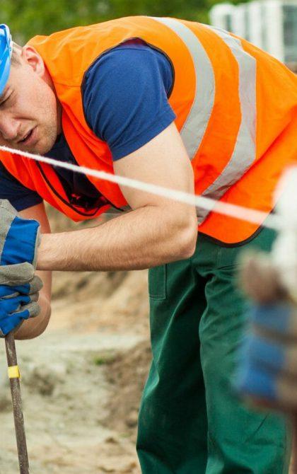 subcontractors working on site