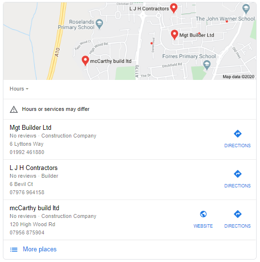 SEO Google My Business Local 3 Pack